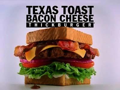Carl's Jr | Texas Toast Bacon Cheese Thickburger